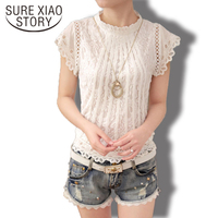 2015 New Korean Style Fashion Casual Diamonds Collar Chiffon Women Blouse Long Sleeve Spring Ladies