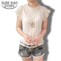 2015 New Korean Style Fashion Casual Diamonds Collar Chiffon Women Blouse Long Sleeve Spring Ladies