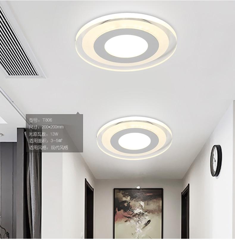 Flush Mount Small LED Ceiling Light for Art Gallery Decoration Front Balcony lamp Porch light corridors Light Fixture Led Bulbs