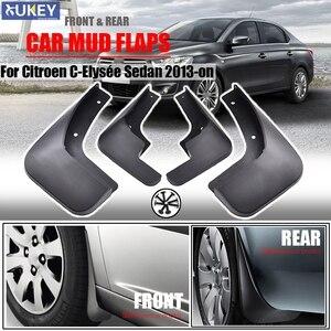 For 2013-2017 Citroen C-Elysee Citroen Elysee Set Car Mud Flaps 2014 2015 2016 Mudflaps Splash Guards Mud Flap Mudguards Fender