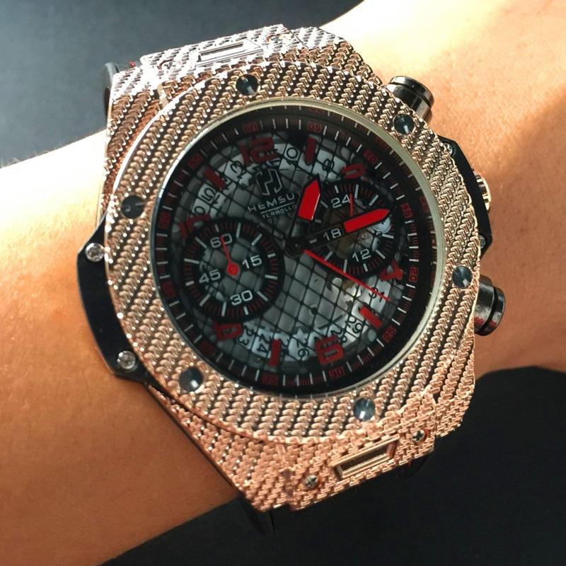 New Pilot Mens Chronograph Wrist Watch Waterproof Date Top Luxury Brand Stainless Steel Males Geneva Quartz Clock 2017 new forcummins insite date unlock proramm