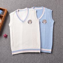 2017 new Cute Penguin baby embroidery college style Japan soft sister JK uniforms knitted vest