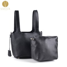 KEY LOCK MINI BUCKET TOTE Women's Famous Brand Designer Inspired PU Leather