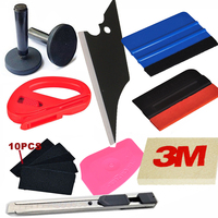 10 in1 Car Wrap Application Tool 3M Blue Squeegee + Magnet + 3M Wool Squeegee