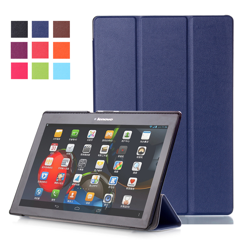 Fashion Case Custer Tab2 A10 30 PU Leather cover case For lenovo tab 2 a10-70 10.1 X30F a10-30 10 High Quality Free Delivery