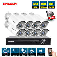 8CH 5MP 1080P 4K HDMI POE NVR Kit CCTV Camera System 4.0MP Outdoor Security IP Camera P2P Video Surveillance System Set 2TB HDD