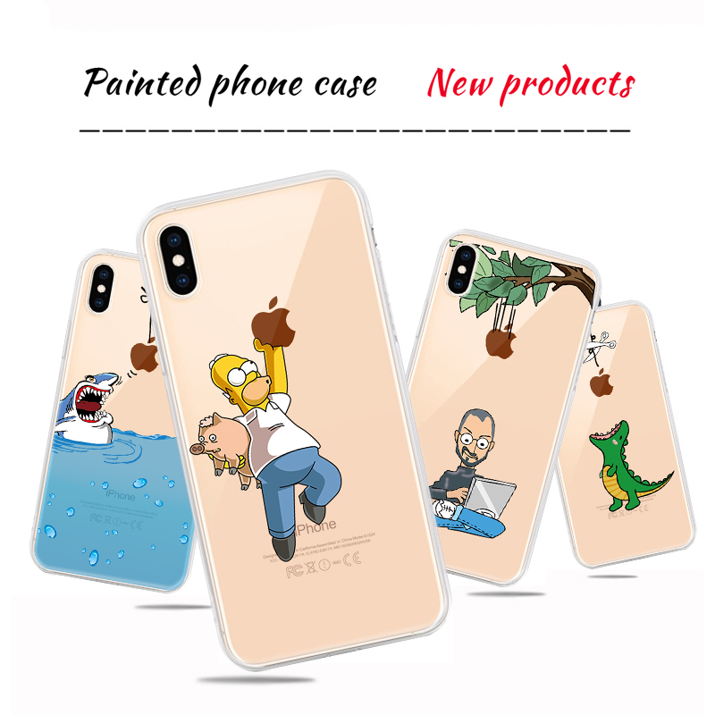Soft Silicone TPU Cool Pattern Phone Shell For iPhone Models 2