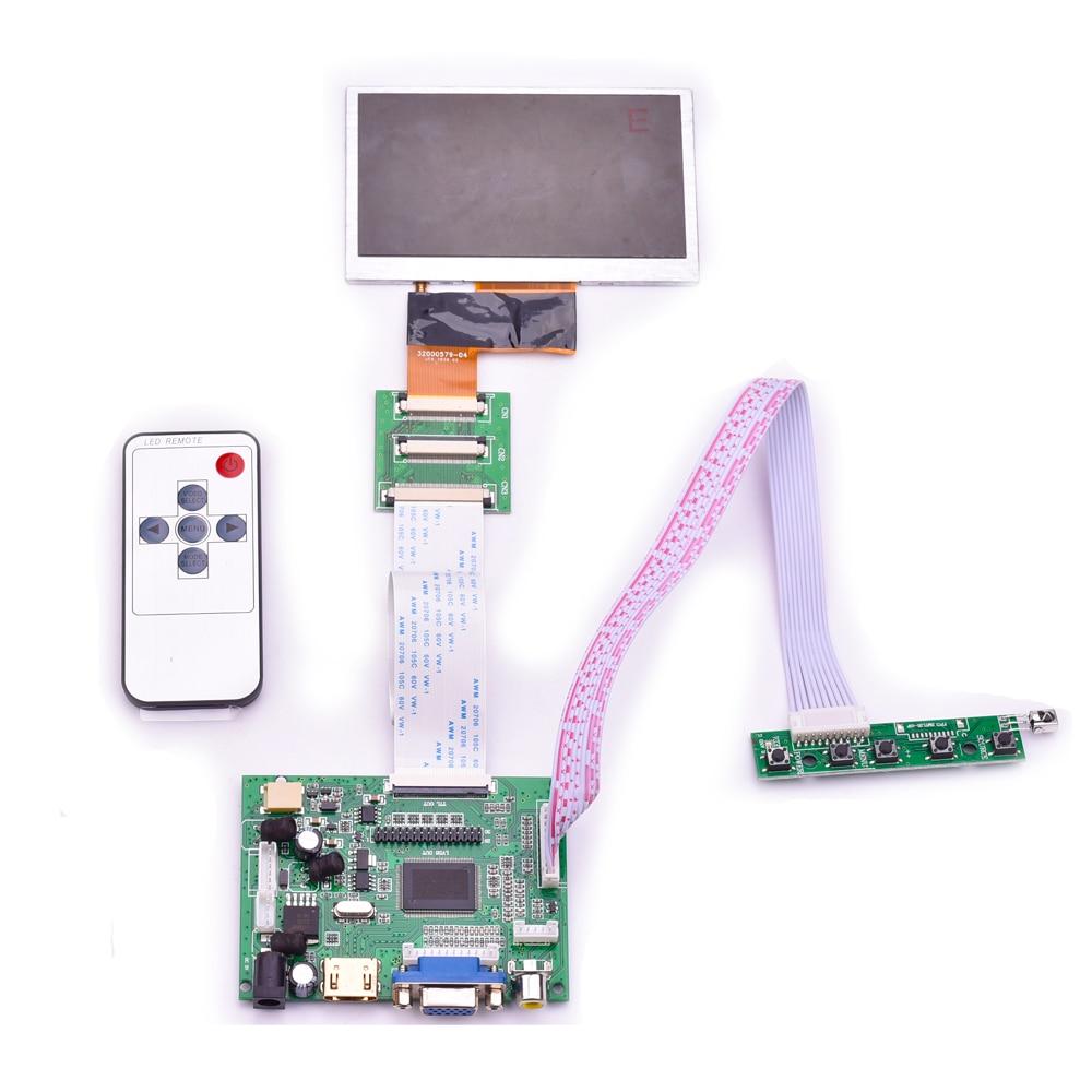 4.3 pouces écran LCD + HDMI double AV VGA LCD carte pilote avec priorité d'inversion peut être converti kit de bricolage en coulisses