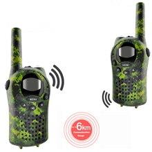2 unids/set Walkie Talkies para niños Mini Radios bidireccionales intercomunicador verde Camo 22 canales 446MHZ FRS juguetes Interfono para niños