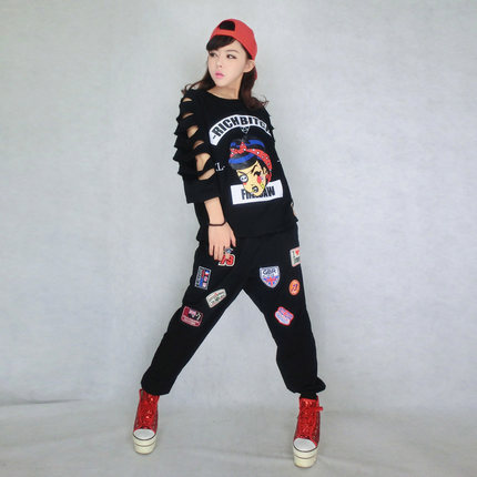2015 New Preppy Style Hiphop Hip Hop Loose Plus Size T