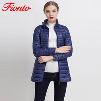 2017 Winter Long Spring Autumn Overcoat Women Ultra Light 90 White Duck Down Coat Jackets Duck