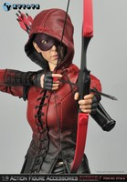 ZYTOYS ZY16 6 1/6 Female Red Arrow Red Bow + Female Leather Suit for Action Figure DIY