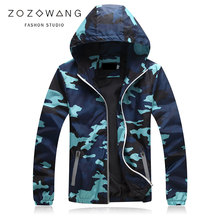 ZOZOWANG 2019 NEW Camouflage Jackets Mens Coats Spring Summer Casual Camo Male Army Military Men Outerwear Streetwear