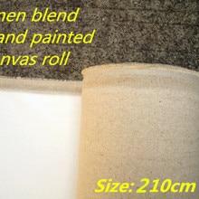 2,1 м в ширину 400 г льняная смесь тонкая текстура рулон бумаги для рисования для художника