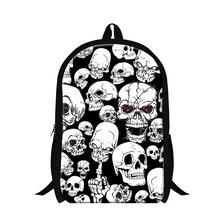 Dispalang Weiß schädel rucksack für jungen, männer verrückten gedruckt schule rucksack mädchen mode leichten mochila Shoullder Bookbags