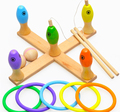 Wooden Educational wisdom toy 1pc ferrule fishing bowling game Early Development safety wood infant baby gift