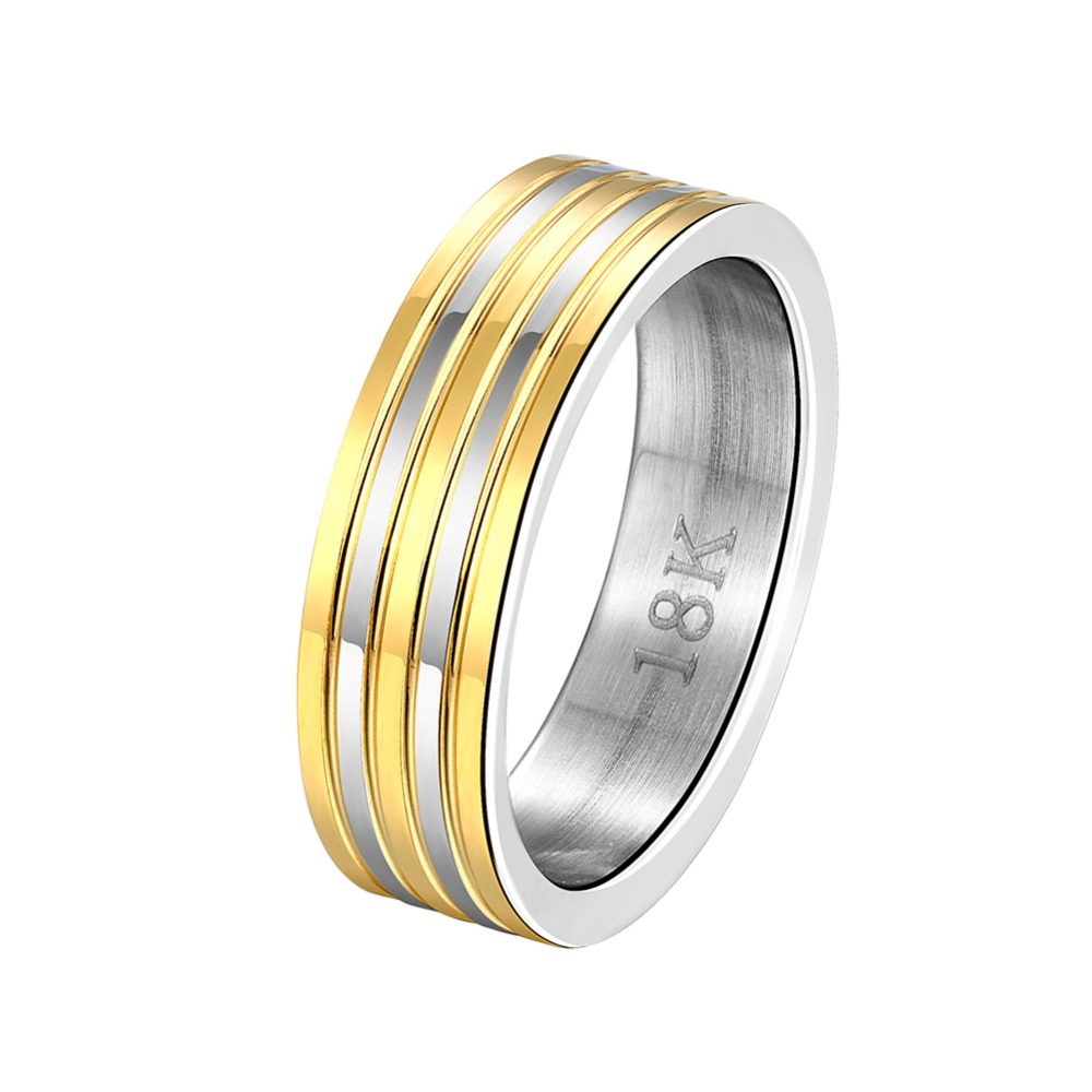 INALIS Big Promotion Wholesale Brand Women Men Finger Ring Jewelry Gold colour Stainless Steel Luxury Party Rings