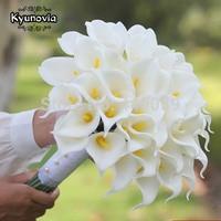 40pcs White Calla Lily bouquet Lace Bouquet wedding flowers bridal bouquets artificial Calla Lily flower wedding bouquet D74