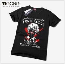 Hot SaleFree Envío de la Nueva Animación Niños girls Anime de Tokio Ghoul Novedad Camiseta Del Verano camiseta Cosplay Traje