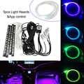 3 мм 9 м боковой светящийся кабель RGB DC 12 В Автомобильный декоративный светильник волоконно-оптический автомобиль с 4 шт. автомобильный интер...