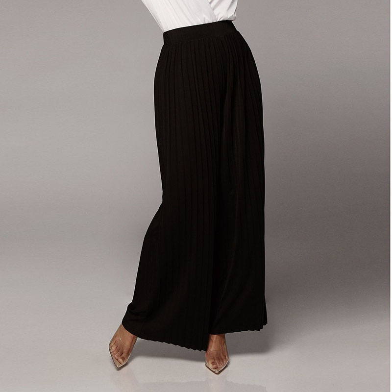 Pants & Capris Objective 2018 Hot Women Chiffon Wide Leg Pants Casual Sexy Pleated Loose Trousers Ladies Costume Female Clothes Summer Fashion New Sale Women's Clothing