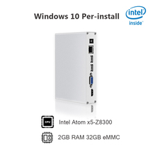 Fanless Mini PC Intel Cherry Trail Z8300 Quad Core Mini Computer Windows 10 2GB RAM 32GB ROM HDMI USB all in one pc mini