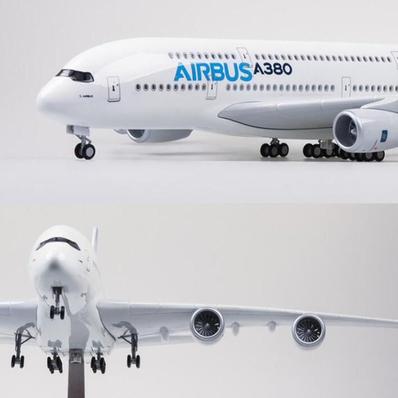 About 43CM Boeing787 Airbus A380 Airplane Plastic Allory Model Aircraft EMIRATES ETIHAD QANTAS AIRFRANCE LUFTHANSA ANA