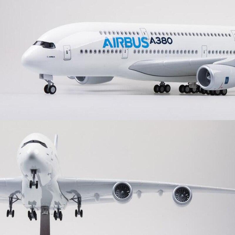 ประมาณ 43 ซม. Boeing787 Airbus A380 เครื่องบินพลาสติกแว่นตาเครื่องบินเอมิเรตส์ ETIHAD แควนตัส AIRFRANCE LUFTHANSA ANA AIRLINES-ใน โมเดลรถและรถของเล่น จาก ของเล่นและงานอดิเรก บน   1