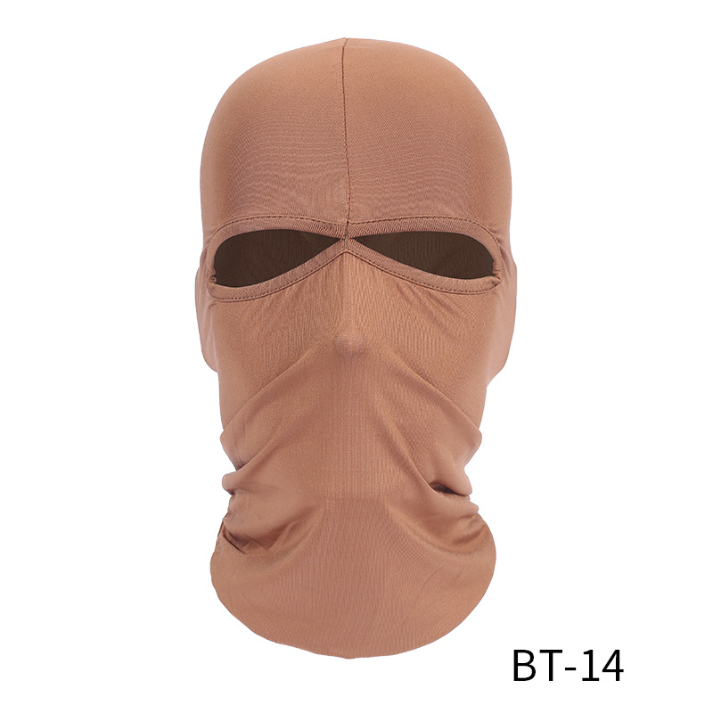 Climbing Helmet Cap New Face Mask Unisex Breathable Moto Mask Ski Motorcycle Paintball Military Tactical Face Shield Hoody Lycra