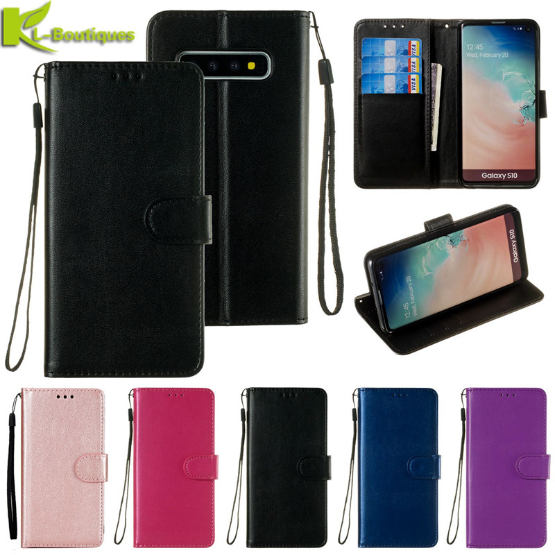 <font><b>Case</b></font> on sFor Fundas <font><b>Samsung</b></font> Galaxy S10 S8 S9 Plus S7 S6 Edge S10 5G S10E <font><b>S5</b></font> S4 Cover Solid Color Wallet Flip <font><b>Leather</b></font> Phone <font><b>Case</b></font> image