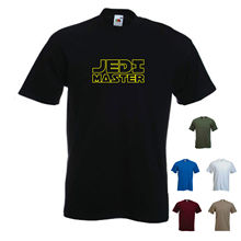 'Jedi Master'. Star Wars Movie - Funny Men's t-shirt Free shipping  Harajuku Tops Fashion Classic Unique Cotton   O-Neck T Shirt цены