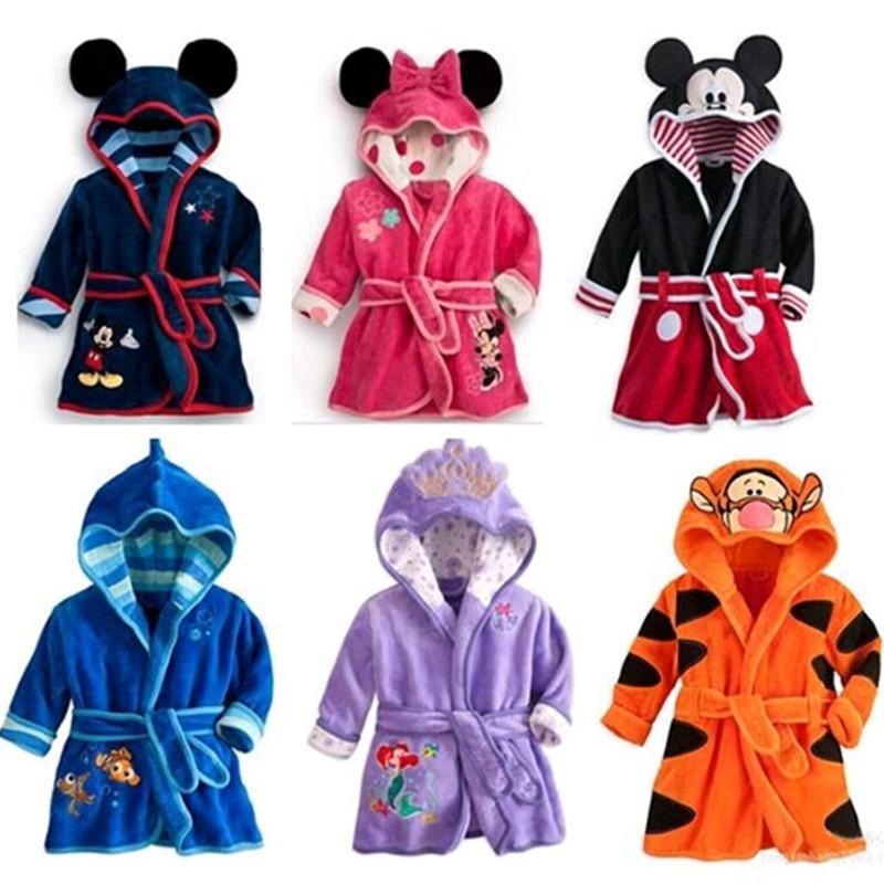 Cotton Child Robe kids Bathrobe Childrens Roupao Infant 5 Colors Baby Cloth Bath Robe Baby Girls Boys Cotton winter thickening