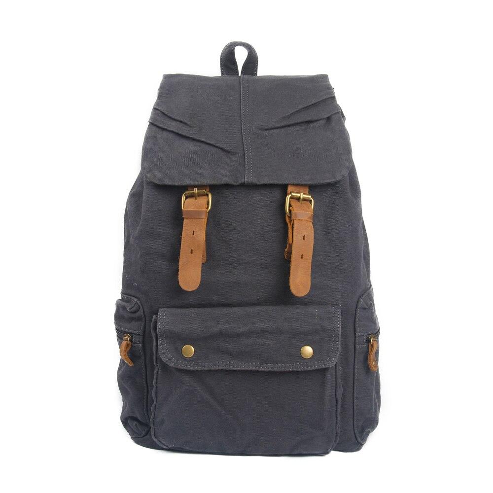 c578831e8 New vintage backpack men's casual backpack men solid canvas school backpacks  for teenager Men's Travel bags