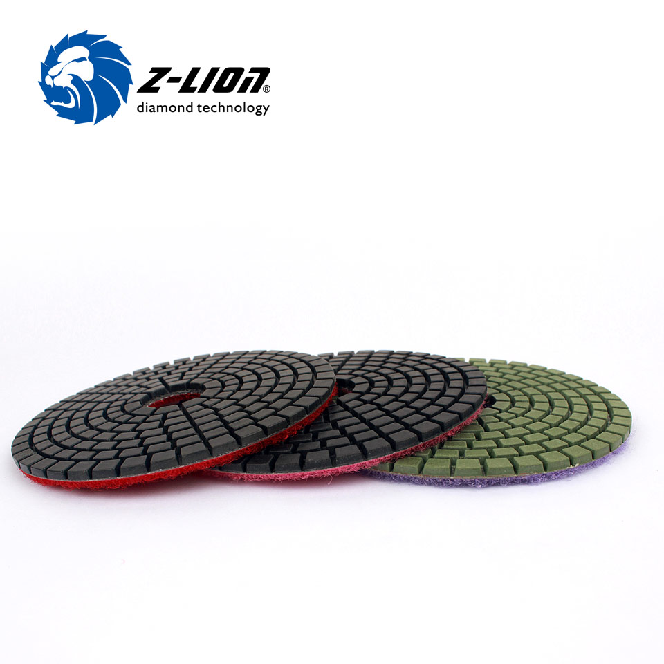 Z lion 3 steps polish pads 4 diamond grinding ceramic tile stone z lion 3 steps polish pads 4 diamond grinding ceramic tile stone polishing pad 3 pcs ceramic whetstone flexible grinding disc in abrasive tools from tools dailygadgetfo Images