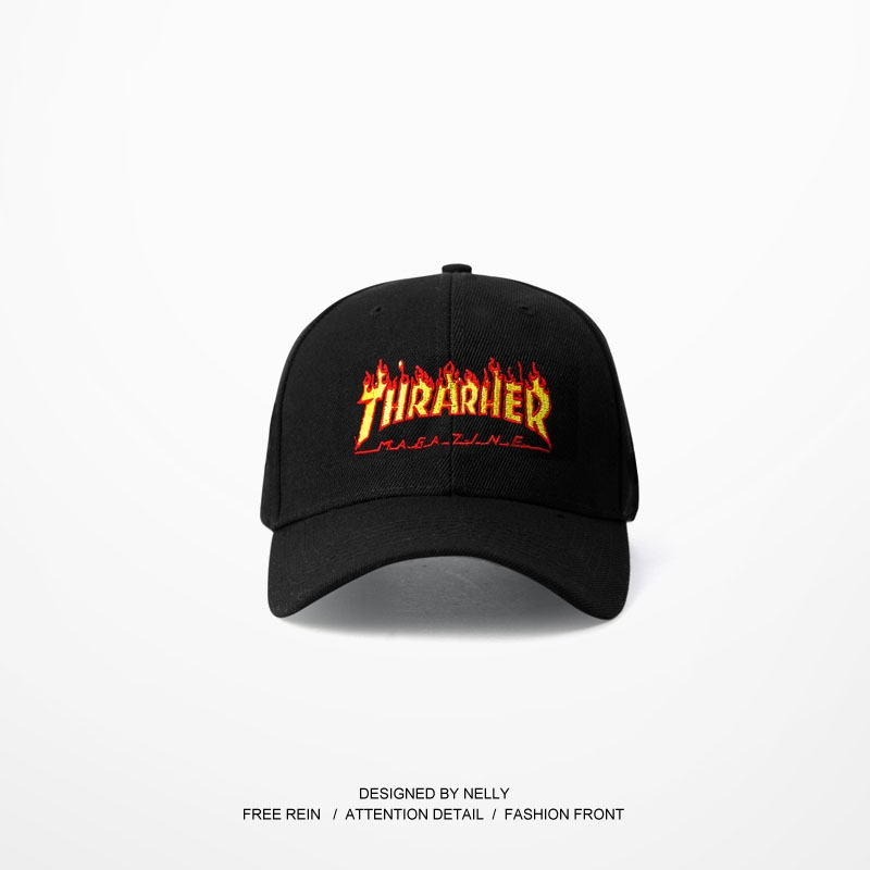 Thrasher Pattern Casquette Hats Adjustable Baseball Hip Hop Hearwear Skateboard Curve Brimmed Golf Snapback Bone Masculino Caps