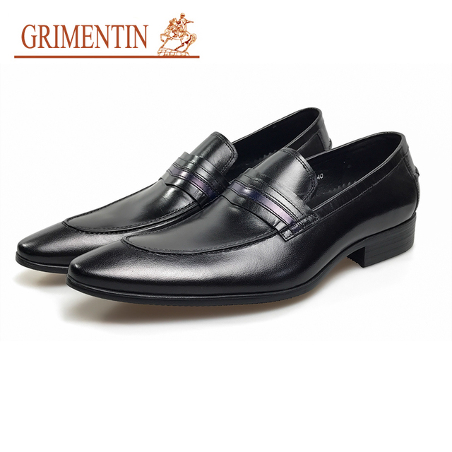 Hommes Chaussures Mode en cuir véritable luxe mariage d'affaires formelles Pointu Toe colorés hommes Flats MG9bbw0