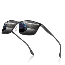 Brand design aluminum-magnesium polarized sunglasses mens sports driving glasses mirror goggles fishin
