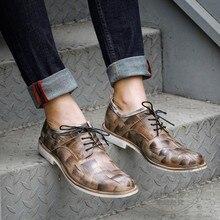 Originalität Rindsleder Handgemalte Gothic Italienische Herren Schuhe Marken Leder Dimensiona Kappe Frühjahr Männer Kleid Schuhe Plain Geometrische