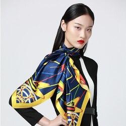 Bufanda de seda Menogga 90*90cm cuadrado gran diseñador bufandas de lujo 2019 estilo Retro suave bufanda para mujer nuevos chales y envolturas