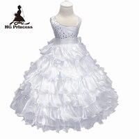 Hot Sprzedaż Suknia Balowa Niska Cena Biały pierwsza Komunia Święta sukienka 4 lat Trzeba Organza Flower Girl Dresses Na Wesela