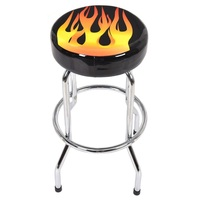 29'' Height Round Counter Flame Bar Stools Modern Stable Stools HW52979