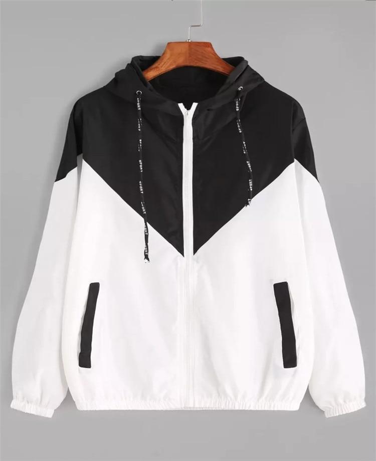 Women   Basic     Jackets   Female Zipper Pockets Casual Long Sleeves Coats Autumn Hooded   Jacket