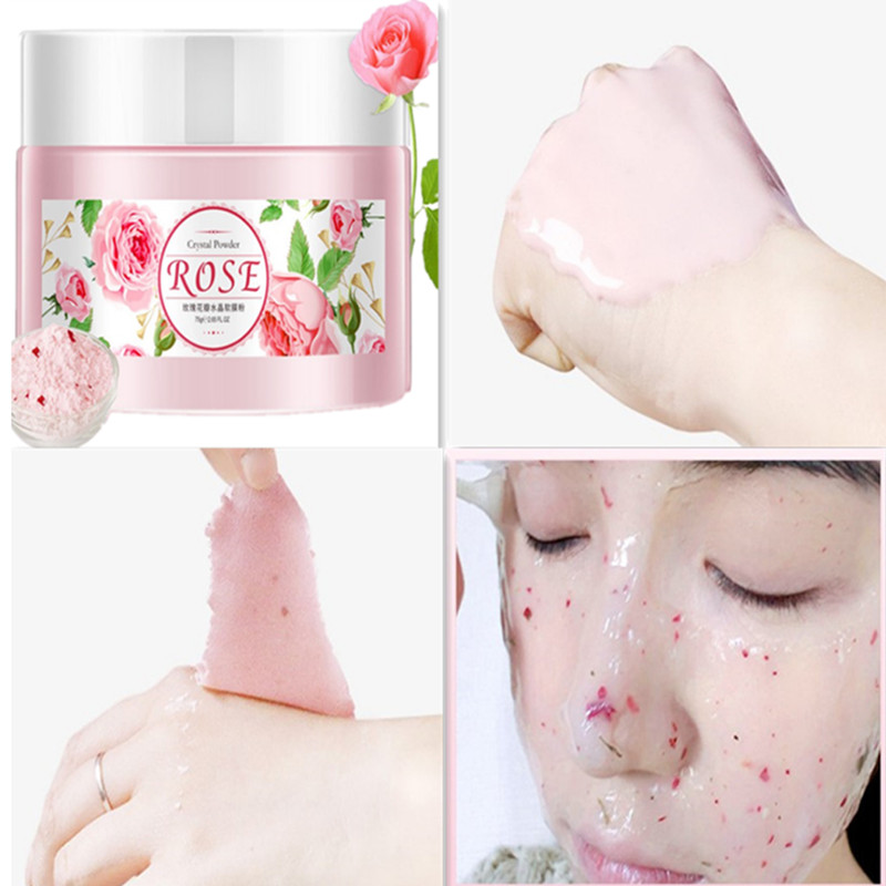 US $3 81 |IMAGES Rose Brighten& Moisturizing Mild Face alginate mask Petals  Moisturizing Soft Body Care Plant extract Clean Shrink Pores-in Treatments