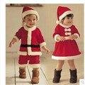 Papai Noel Bebe Ternos Fleece pijama natal kerst Bebês Crianças roupas de bebe 2 roupas de natal para o ano novo kerstmuts