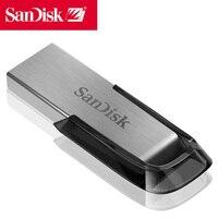 Sandisk Pendrive 128GB USB stick Flash Drive Genuine Ultra Flair cle usb 3.0 metal pen drive Disk On key Black Memory Stick 128g