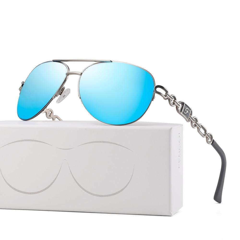 FENCHI sunglasses women uv 400 oculos female glasses sun glasses mirror Pilot Pink feminino zonnebril dames gafas de sol mujer 19