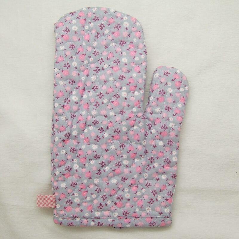 1ks Cooksmart 100% bavlna (uvnitř a vně) Trouba Mitt / Rukavice bílý bod sněží růžový & bílý roztomilý květ světle fialové pozadí