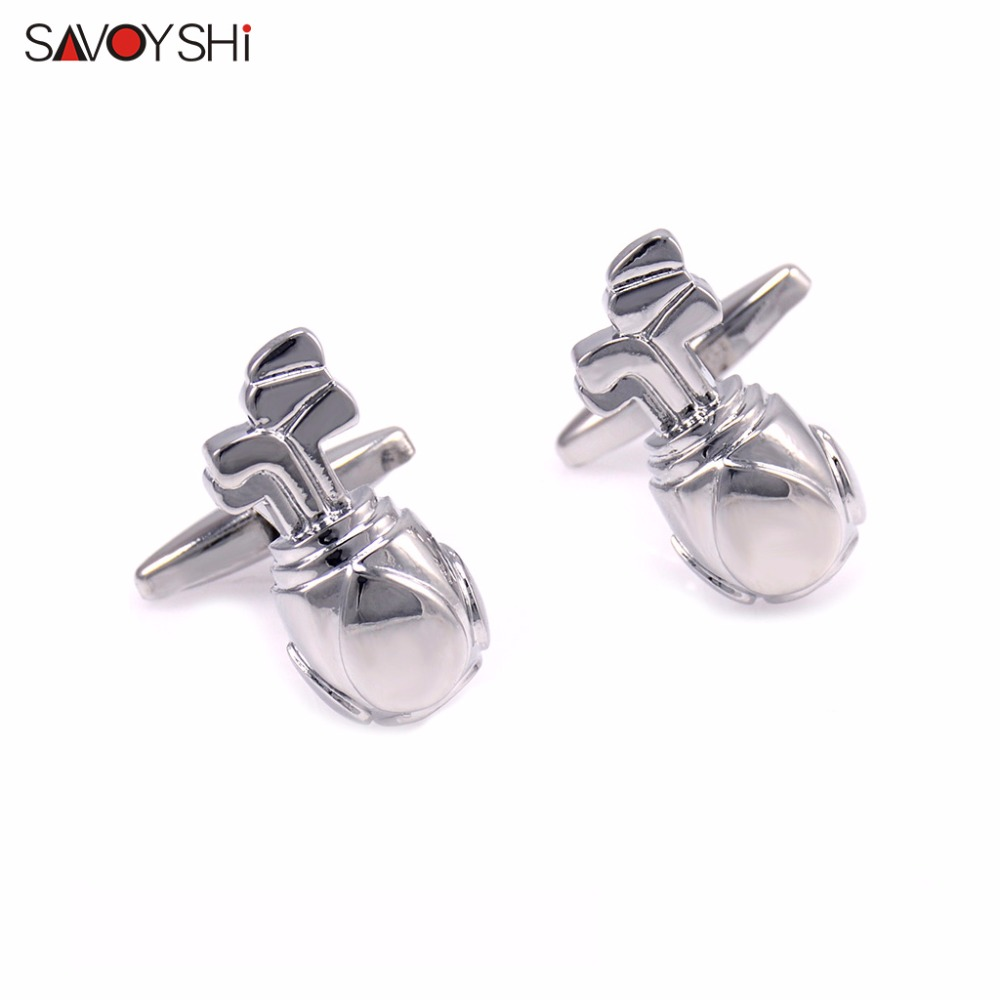 SAVOYSHI Jewelry Golf bags Cufflinks for Mens&Womens High Quality Novelty Fashion Cuff link made of Copper material
