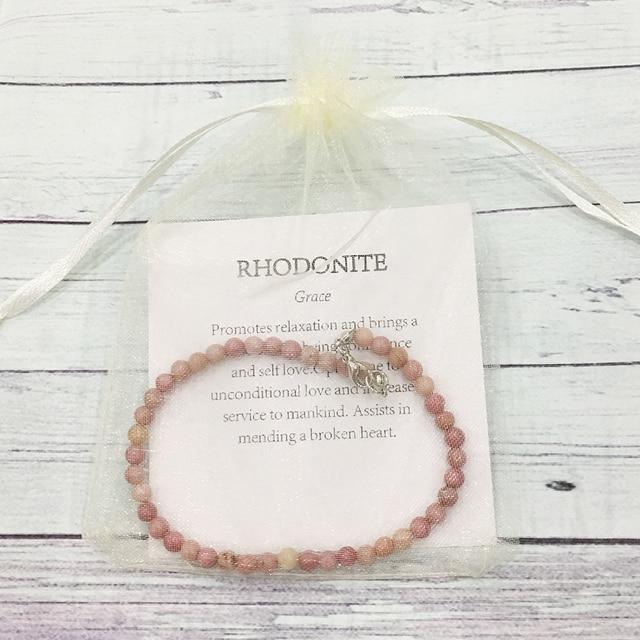 Bracelet Femme Rhodonite