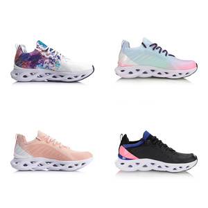 Image 3 - Li Ning Women LN ARC Cushion Running Shoes Breathable Sneakers Mono Yarn LiNing li ning Wearable Sport Shoes ARHP108 XYP936